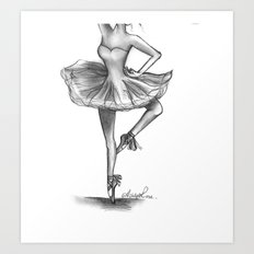 Delicate Ballerina by Ashley Rose Art Print