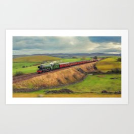 The Flying Scotsman Locomotive Art Print