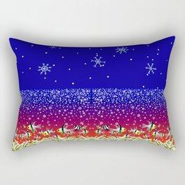 Ugly Christmas Fishes Rectangular Pillow