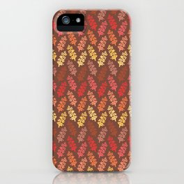 Warm Autumn Leaves Pattern iPhone Case