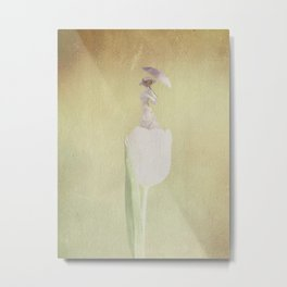 The Lady in White Metal Print