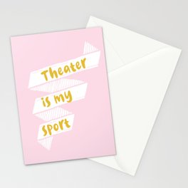 Theater is My Sport Banner Stationery Cards