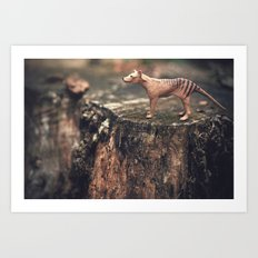 The Last Thylacine Art Print