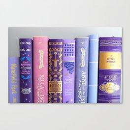 Shelfie in Purple Canvas Print