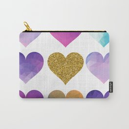 Coloured Love Hearts Design Carry-All Pouch