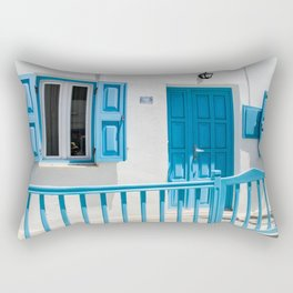Typical house on the Greek island of Mykonos Rectangular Pillow