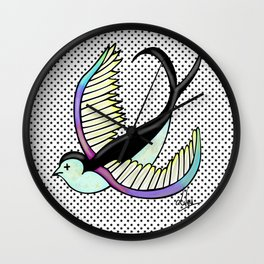 Black swallow odl school Wall Clock