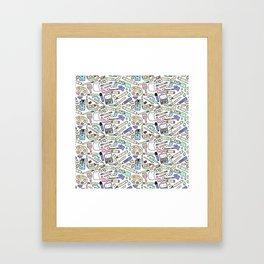 Kawaii Art Supplies Framed Art Print