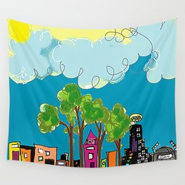 JL The City View Wall Tapestry