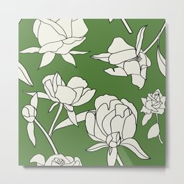 Roses on green Metal Print