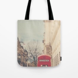 on a city street ...  Tote Bag