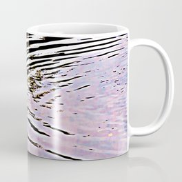 Pink Sky Reflected in Ripples Coffee Mug