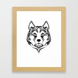 wolf 01 Framed Art Print