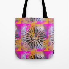 Sun illustration pink orange Tote Bag