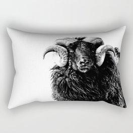 Black Ram Rectangular Pillow