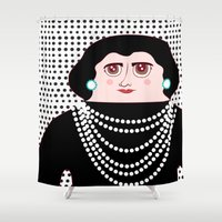 coco Shower Curtains featuring Coco by Late Greats by Chen Reichert