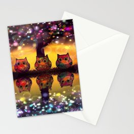 owl 126 Stationery Cards