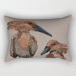Hamerkop Bird Rectangular Pillow