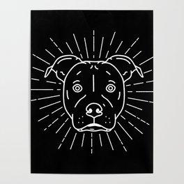 Radiant Dog Print – black and white Poster
