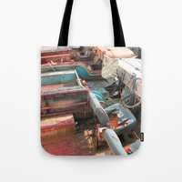 jeep Tote Bags featuring Jeep by Mario Sa