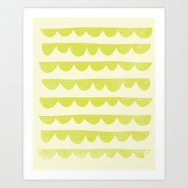 Scalloped Art Print