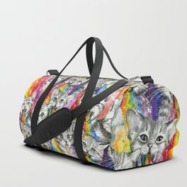 Kittens Puking Rainbows Pattern Duffle Bag