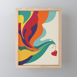 Love Message Framed Mini Art Print