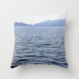 Mediterranean Blues At Sea Throw Pillow