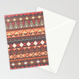 Aztec tribal pattern in stripes, vector illustration Stationery Cards