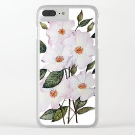 Roses Ballerina Clear iPhone Case