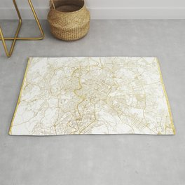 Rome Map Red Rug