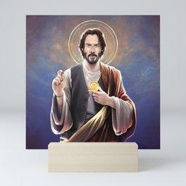 Saint Keanu of Reeves Mini Art Print