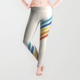 Multicolor Minimal Retro Stripes - Barong Leggings