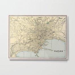 Vintage Map of Naples Italy (1901)  Metal Print