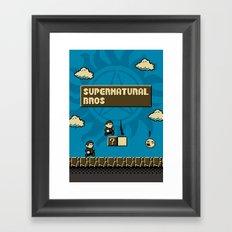 Supernatural Bros. Framed Art Print