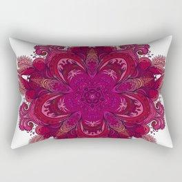 Pink Indian Mandala Rectangular Pillow