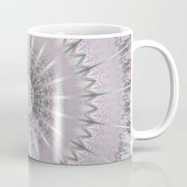 Mauve Silver Mandala Coffee Mug