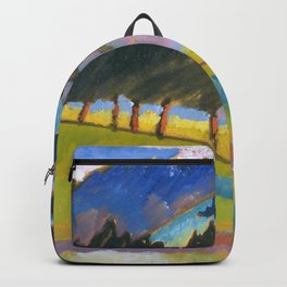 Wassily Kandinsky - Landscape with Rolling Hills Backpack