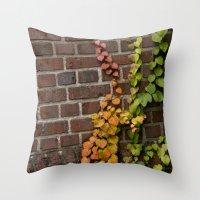 climbing Throw Pillows featuring Climbing by C. Wie Design