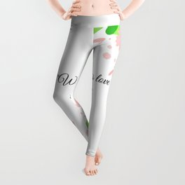 Where there is love there is life Gandhi Leggings