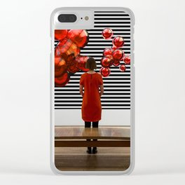 Frau mit Kleid Clear iPhone Case