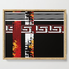 Abstraction .Weave . Patchwork . Serving Tray