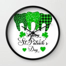 Happy St. Patrick's day Funny Dentist Wall Clock