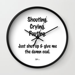 Shouting, Crying, Pouting Wall Clock
