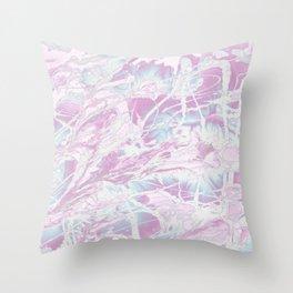 Baesic Wet Paint Purple Throw Pillow