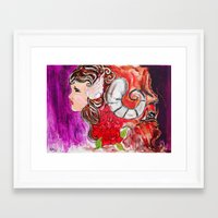 beauty and the beast Framed Art Prints featuring Beauty + Beast by Bianca Neill