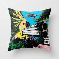wildlife Throw Pillows featuring Wildlife by Pierre-Paul Pariseau