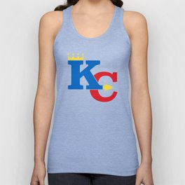 Kansas City Sports Red & Dark Blue Unisex Tank Top