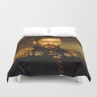 replaceface Duvet Covers featuring Ricky Gervais - replaceface by replaceface