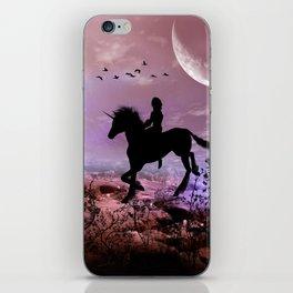 The unicorn with fairy iPhone Skin